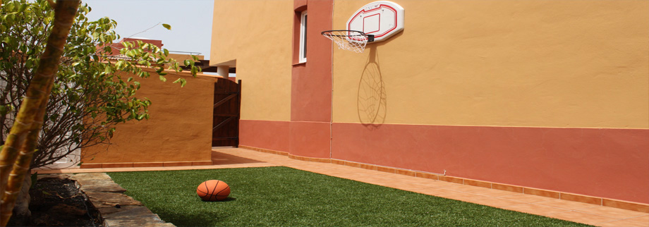 The Basketball area in our Private Garden